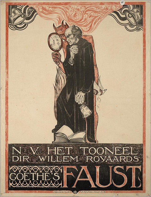 Poster for a stage performance of Goethe's Faust directed by Willem Royaards, by Richard Roland Holst (1868–1938), 1918