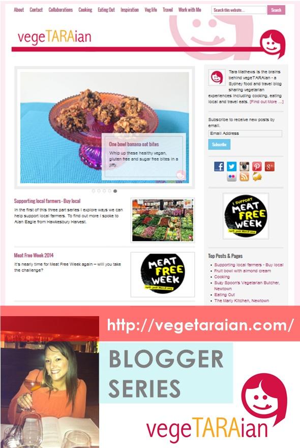 Blogger Series 1 vegeTARAian | www.fussfreecooking.com