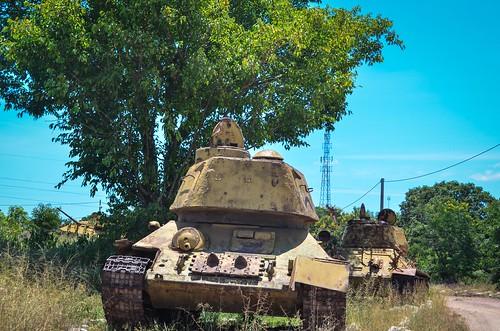 Tank cemetery