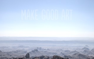 "Big Bend ""Make Good Art"" wallpaper"