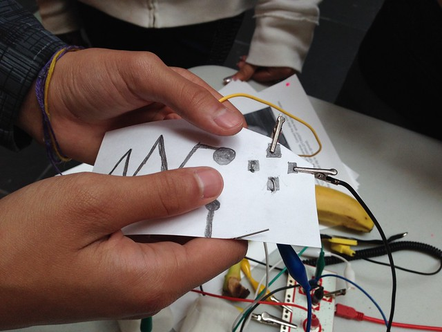 Student made Makey Makey hand drawn game controller