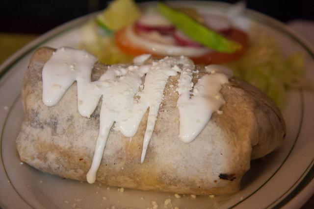 Shrimp burrito, Las Delicias Mexicanas