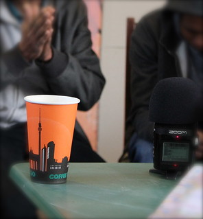 Interviews mit Flüchtlingen in der Gerhart-Hauptmann-Schule, Kreuzberg