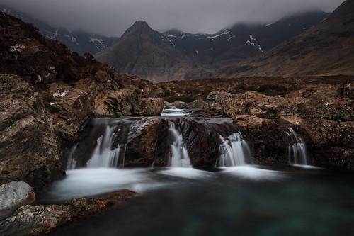 uk greatbritain skye water river landscape scotland waterfall isleofskye unitedkingdom landschap schotland waterval rivier fairypools grootbrittannie