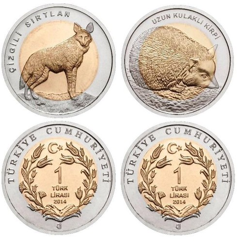 Turkey's Bimetallic Animal Series coins