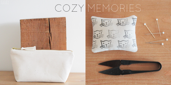 handmade things I'm loving right now (Zipped Pouch and Mini Pincushion by Cozy Memories) | Emma Lamb