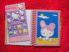 April page in the Hello Kitty journal and puffy sticker sheet