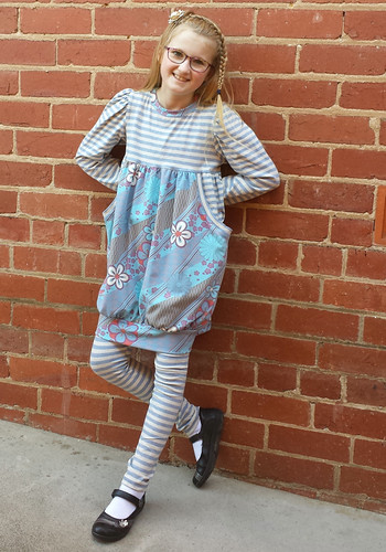 Go To Patterns Belinda dress and matching leggings
