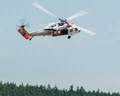 Action Photo of NAS Whidbey Island MH-60S Performing for the 2015 NASWI Open House