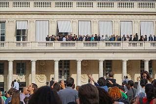Image of La Foule. paris france palaisroyal ministèredelaculture dalbera fêtedelamusique2015