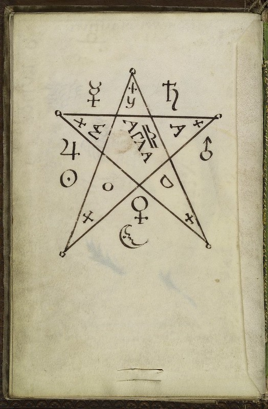 L0036627 Pentagram seal, from Cyprianus, 18th C