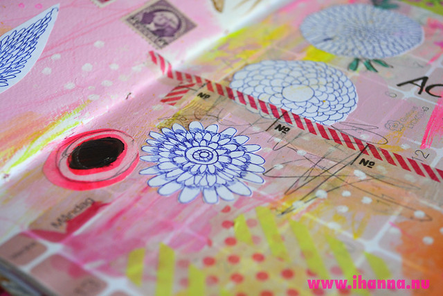 Art Journal Detail:  dots and stripes by iHanna