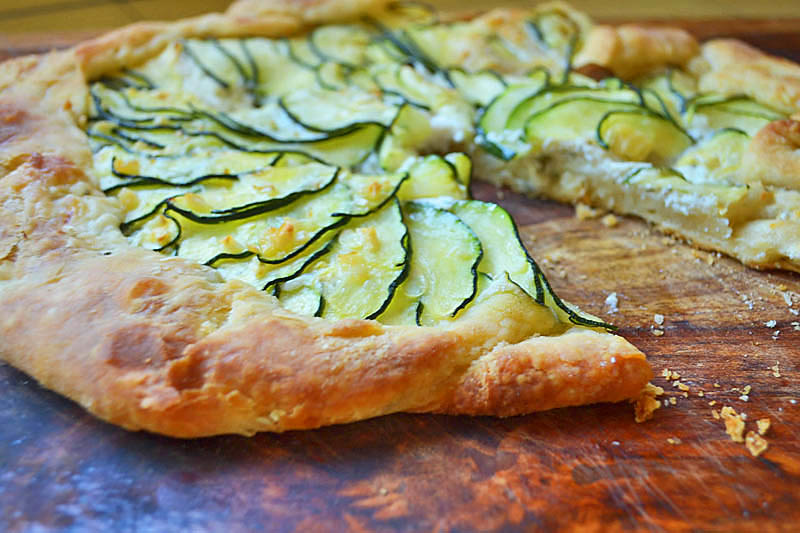 A summery take on a simple and rustic zucchini tart. Zucchini galette is perfect to use up the abundance of summer produce and has a flaky, buttery crust.