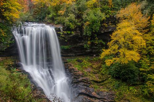 northcarolina nc waterfall western macon fall falls october