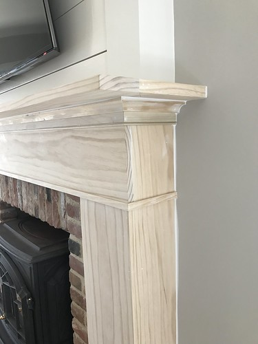 Paint Fireplace Mantle