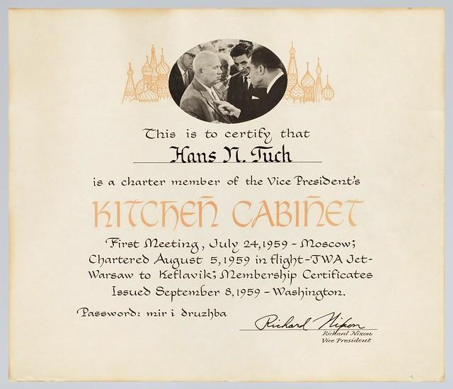 """Kitchen Cabinet"" Certificate"