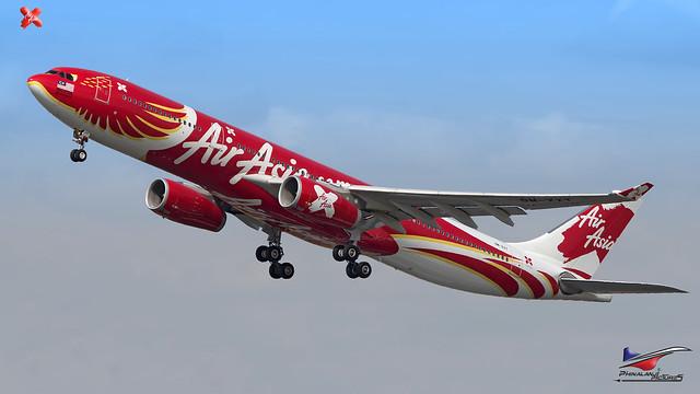 AirAsia X/ Airbus A330-343  / 9M-XXT / Xcintillating PhoeniX