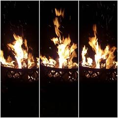 It's a fire pit kind of night 🔥 🔥 🔥  #backyardwonders #firepit #readyforsummer #familytime #wheresthemarshmallows #artistangie