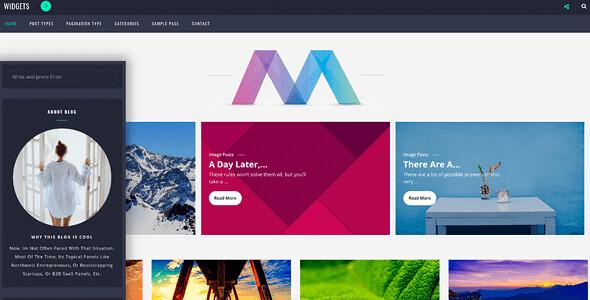 Wordica Masonry WordPress Theme free download