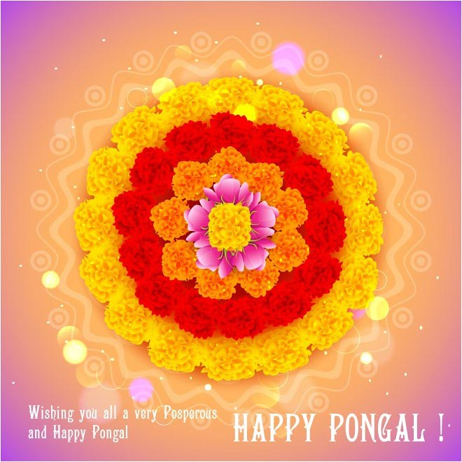 vintage background – free vector happy pongal day background