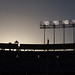 Dusk at Dodger Stadium