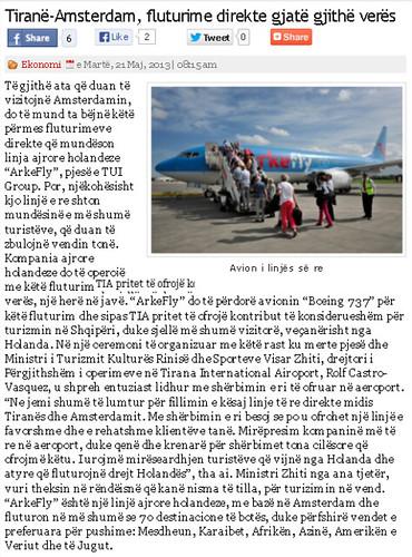 Tiranë-Amsterdam, fluturime direkte gjatë gjithë verës