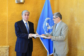 NEW PERMANENT REPRESENTATIVE OF IRAN PRESENTS CREDENTIALS TO DIRECTOR-GENERAL OF UNITED NATIONS OFFICE AT GENEVA