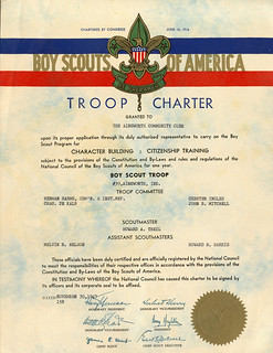 Boy Scout Troop Charter 1947
