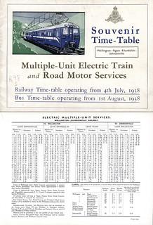 Souvenir Timetable