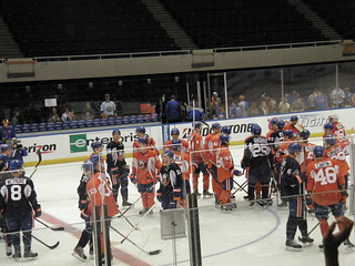 NY Isles Orange v Blue '13: Mixing Colors