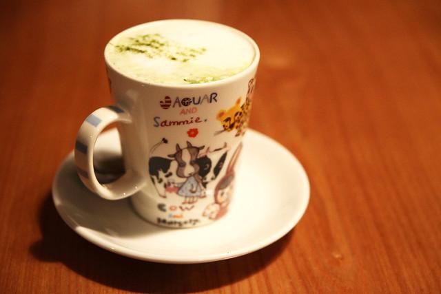 绿茶卡布奇诺