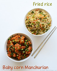 fried rice, gobi manchurian