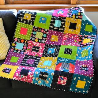 Bright Modern Baby Quilt