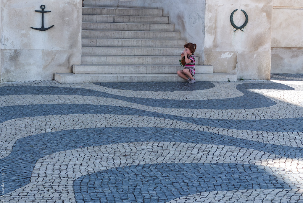 Lisbon, Little Girl in Visit at Padrão dos Descobrimentos