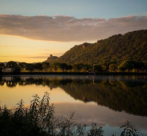 sunset lake reflection nature water minnesota night landscape midwest scenery scenic winona bluffland pwpartlycloudy