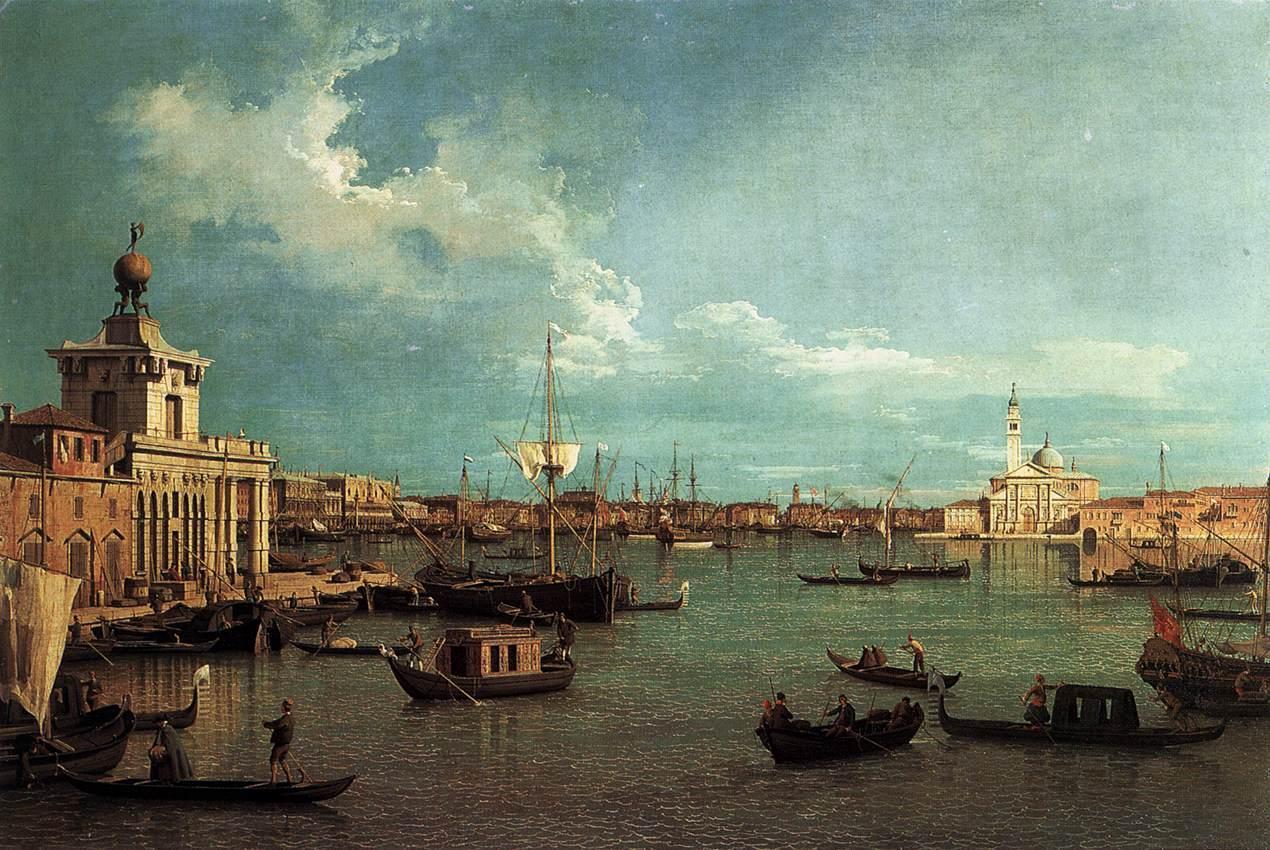 19. Venecia. Fondeadero desde la Giudecca. Canaletto. Óleo sobre lienzo, 1740