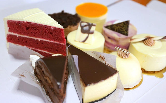 Dessert galore - love the red velvet cake