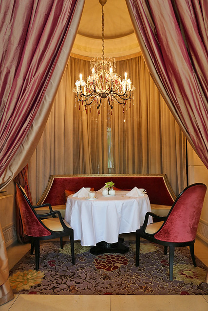 Special nooks in Brasserie Les Saveurs at St Regis Singapore