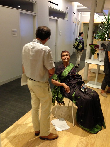 Gayatri Spivak after her talk
