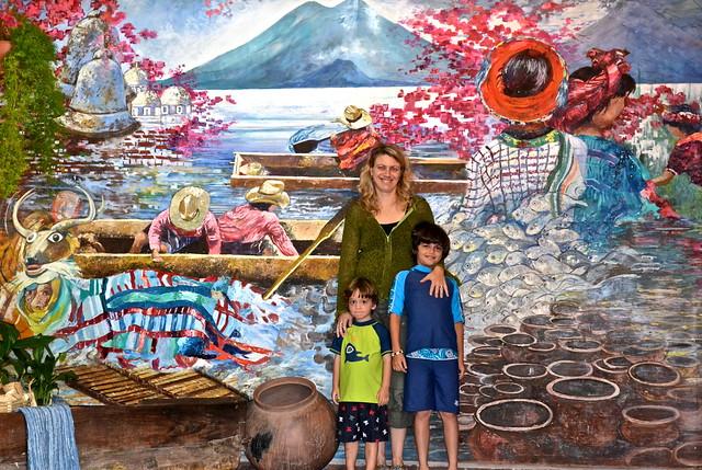 Mayan Mural, Lake Atitlan, Guatemala