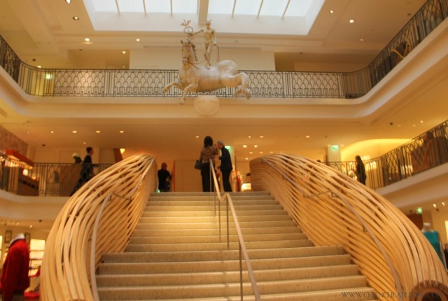 Hermes Rue Sevres store view from downstairs by Chic n Cheap Living