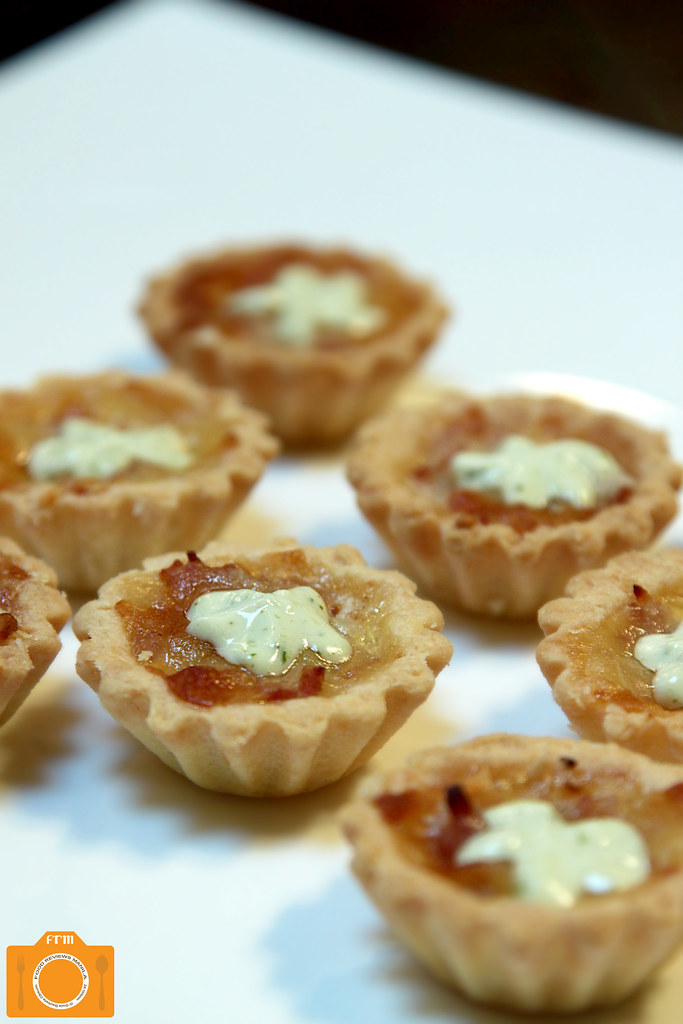 Urbn Bar Caramelized Onion and Bacon Tartlets