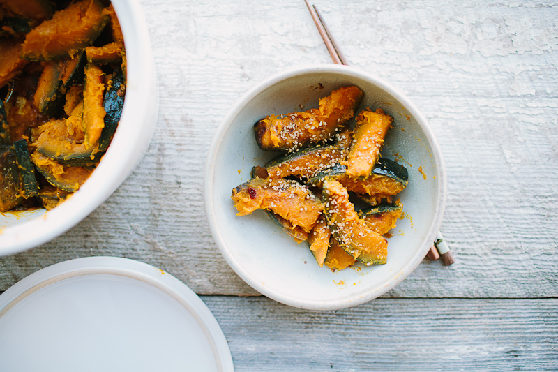 Sake-Steamed Kabocha Squash with Miso // the year in food