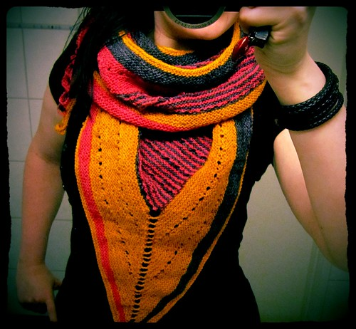 mystery shawl done!