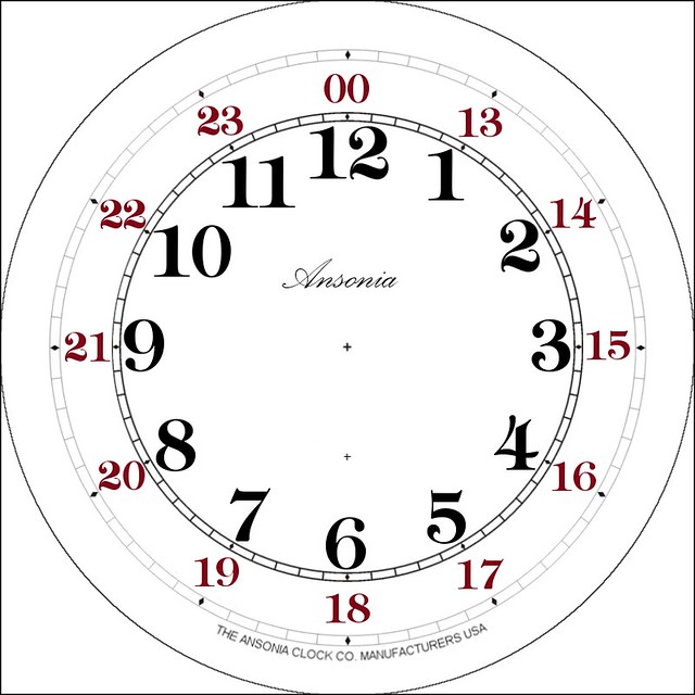 Clock Face with Border - 24 Hours : Flickr - Photo Sharing!