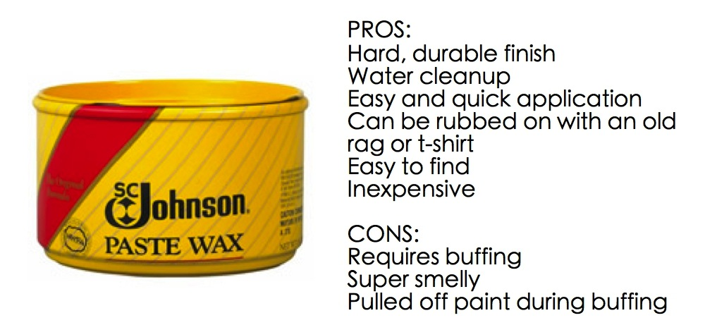 First Up, SC Johnson Paste Wax.