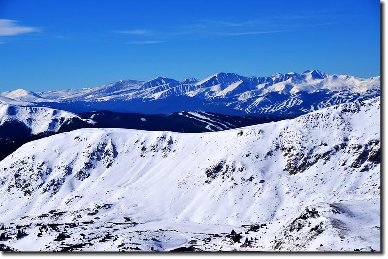 Loveland Pass  Point 12,915'遠眺西南邊Quandary等五座14ers 1