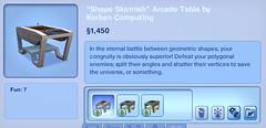 Shape Skirmish Arcade Table by Korben Computing