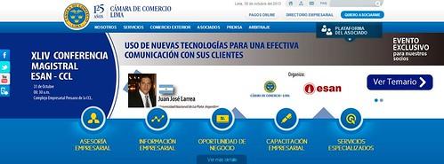 foto  Conferencia sobre Tecnología y Comunicación en la Cámara de Comercio de Lima