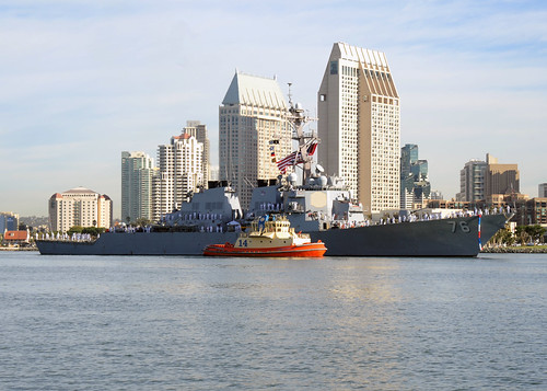 SAN DIEGO - The guided-missile destroyer USS Higgins (DDG 76) returned to its homeport of San Diego following the completion of a scheduled deployment to the U.S. 5th and 7th Fleet areas of operation.